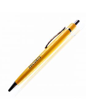 PENHOUSE.IN RETRACTABLE TYPE BALL PEN – YELLOW COLOR BODY (ESCORTS MODEL: 10097