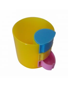 PENHOUSE.IN MODEL :11551 PLASTIC YELLOW COLOR WITH THREE MINI TRAY TYPE DESIGN
