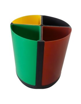 Penhouse.in Model ; 11552 Plastic four color pen stand with four division