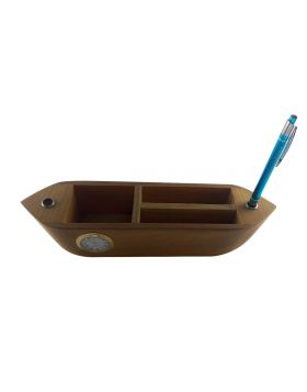 PENHOUSE.IN MODEL: 12560-BOAT SHAPED WOODEN BOX WITH MORE HOLDING PURPOSE AND WITH CLOCK