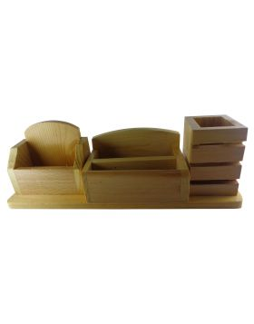 Penhouse.in Model: 14955 Wooden multifunctional pen stand with mobile holder and card holder