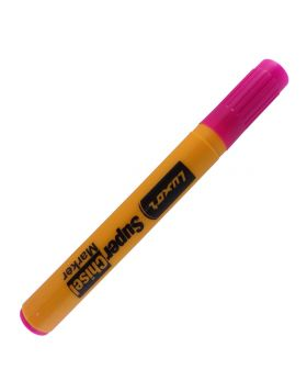 Luxor Model: 15095 Super chisel Yellow color body with Pink color cap with Pink ink marker