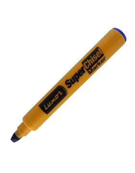 Luxor Model: 15098 Super chisel Yellow color body with Blue color cap with blue ink marker