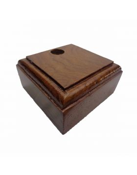 Penhouse.in Model: 15344 Brown color  square shape wooden penstand with Single pen holder
