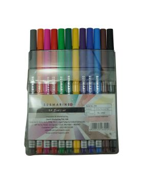Submarine 999 Model:16008  0.4 Fine Liner Multi Color Stic Pen pack (12 Colors)