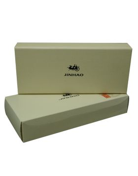 Jinhao  Box Model: 16231  Cream Clor  Deluxe Fashion Box with Magnetic Closing Double  Pen Holding Type