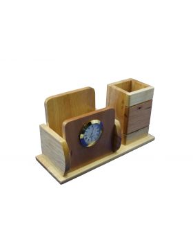 Penhouse Model:16514  Pen Holder With Mobile With Clock Pen Stand
