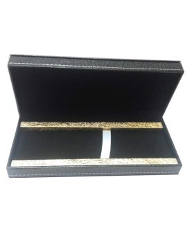 Dikawen Model:16916 Black Color With Gold Line Designed Pen Set Box
