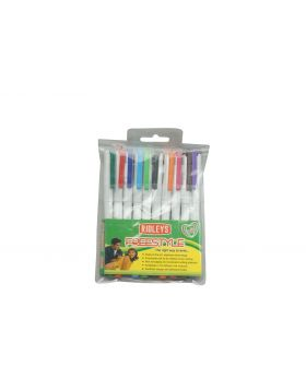 Ridleys Freestyle  Model: 17258 White Color Body With Multi Color Writing  Cap Type Fine Liner