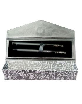 Submarine 2091 Model: 17405  Full Black Color  Body Set Pen Ball  Pen With Gel Pen Set