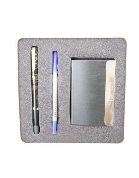 Parker Vector Time Check Model : 17427  Black body with meridian golden clip cap type fine tip Roller ball WithCard Holder  Set
