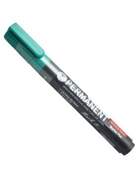 Office Mate Model : 17776  Black Color Body With Green Color Cap And Green Writing Permanent  Markers