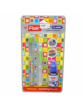 Flair Inky Classic  Model:17791 Green Color Body With Easy Refilling 15 ml Fountain Ink