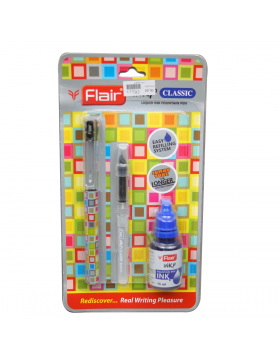 Flair Inky Classic  Model:17792 Black Color Body With Easy Refilling 15 ml Fountain Ink