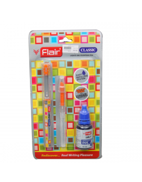 Flair Inky Classic  Model:17793 Orange Color Body With Easy Refilling 15 ml Fountain Ink