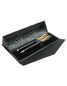 Submarine - Stylish Black Body and Designer Cap Roller Ball and Ball Pen Set Model 18402