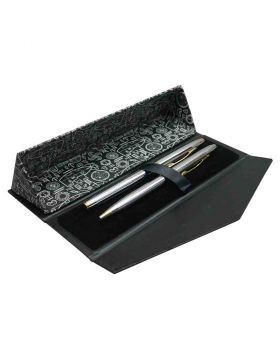 Submarine - Silver Body and Cap Roller Ball and Ball Pen Set Model 18403