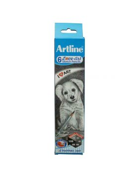 Artline Art Pencil - 6 Unit Pencil from HB 2B 4B 6B 8B 10B Model 18634