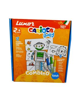 Luxor Carioca Baby - Robot Coloring Cards with Sketch Pens Model.No :50011