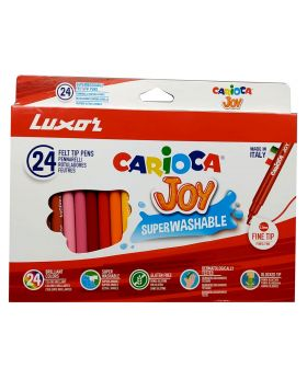 Luxor Carioca Joy - 24 Nos Fine Tip Sketch Pens Model.No :50015