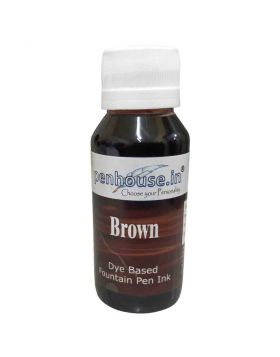 penhouse.in Brown Color Dye Based Fountain Pen Ink 60 ml 70711