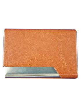 Penhouse Model No:87007 Brown Color Body With Silver Desing  Card holder