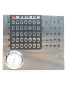 Universal Calendar with photo or logo customization with clock Model 87125