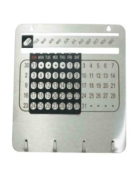 Universal Calendar with photo or logo customization with Key Chain holder Model 87127