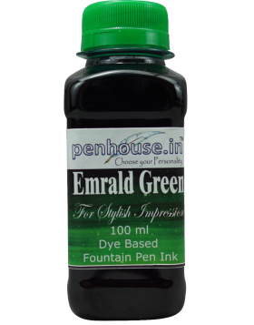 Penhouse Model No: 70056 - Emrald Green - Dye Based Fountain Pen Ink - 100 ml