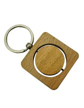 Penhouse.in Model: Kp009 Square shape wooden rotatable keychain