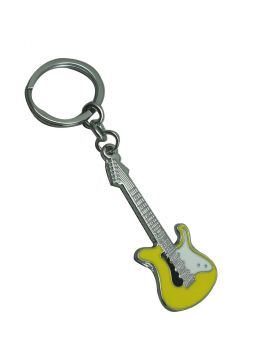 Penhouse.in Model: KP027 Yellow Guitar  Metal  Keychain