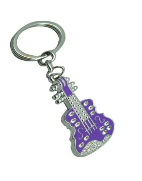 Penhouse.in Model: KP031 Purple Guitar  Metal  Keychain