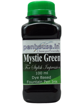 Penhouse Model No: 70049 - Mystic Green - Dye Based Fountain Pen Ink - 100 ml