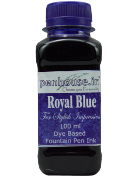 Penhouse Model No: 70047 - Royal Blue - Dye Based Fountain Pen Ink - 100 ml