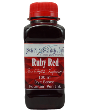 Penhouse Model No: 70050 - Ruby Red - Dye Based Fountain Pen Ink - 100 ml