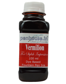 Penhouse Model No: 70063 - Vermilion - Dye Based Fountain Pen Ink - 100 ml